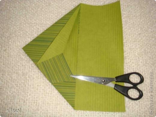 Мастер-класс, Открытка,  Оригами, : Новогодняя открытка. Бумага Новый год, Рождество, . Фото 7