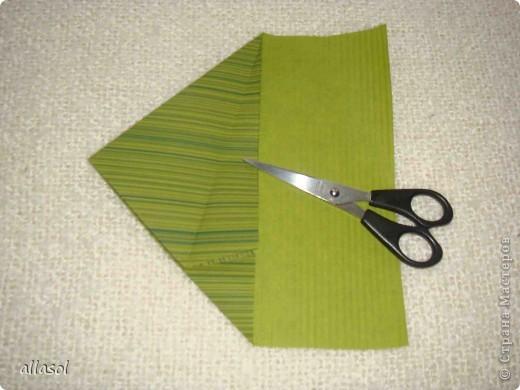 Мастер-класс, Открытка,  Оригами, : Новогодняя открытка. Бумага Новый год, Рождество, . Фото 8