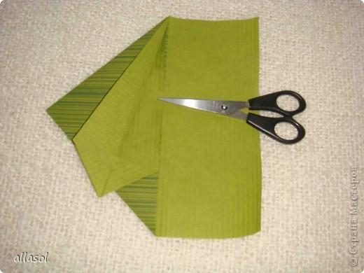 Мастер-класс, Открытка Оригами: Новогодняя открытка. Бумага Новый год, Рождество. Фото 10