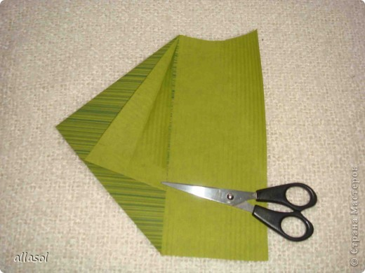 Мастер-класс, Открытка Оригами: Новогодняя открытка. Бумага Новый год, Рождество. Фото 11