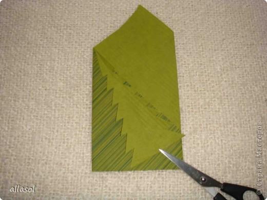 Мастер-класс, Открытка Оригами: Новогодняя открытка. Бумага Новый год, Рождество. Фото 16