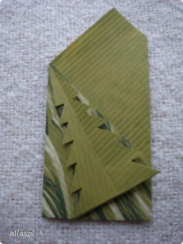Мастер-класс, Открытка Оригами: Новогодняя открытка. Бумага Новый год, Рождество. Фото 17