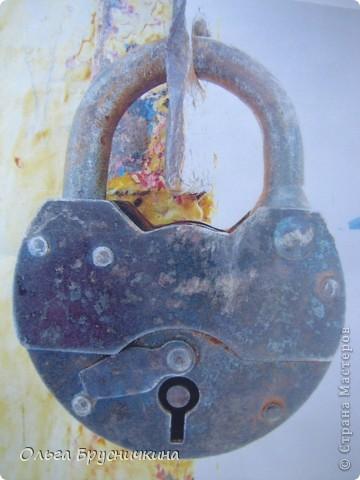 Мастер-класс,  Декупаж, : Замок-ключница.Мини-МК. Дерево, Салфетки, Скорлупа яичная, Фанера . Фото 2