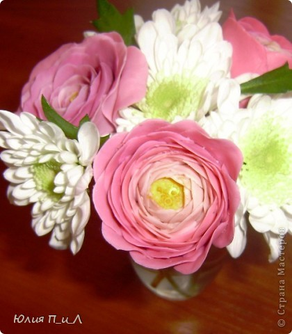 Мастер-класс,  Лепка, : Ранункулюсы-цветы оказались так просты))))Лепим?МК Фарфор холодный . Фото 2