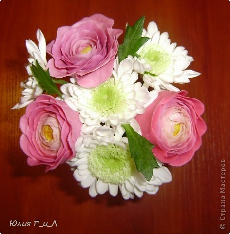 Мастер-класс,  Лепка, : Ранункулюсы-цветы оказались так просты))))Лепим?МК Фарфор холодный . Фото 4