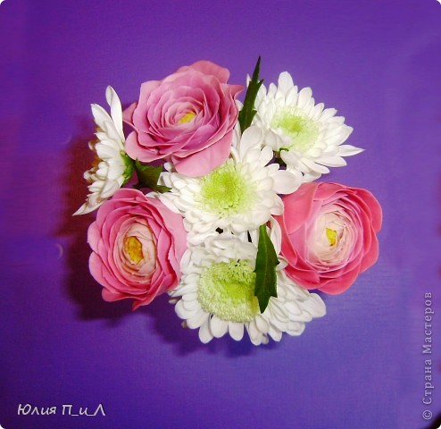 Мастер-класс,  Лепка, : Ранункулюсы-цветы оказались так просты))))Лепим?МК Фарфор холодный . <br /> <center>