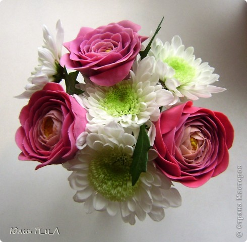 Мастер-класс,  Лепка, : Ранункулюсы-цветы оказались так просты))))Лепим?МК Фарфор холодный . Фото 8