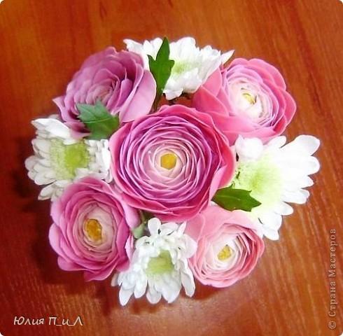 Мастер-класс,  Лепка, : Ранункулюсы-цветы оказались так просты))))Лепим?МК Фарфор холодный . Фото 11