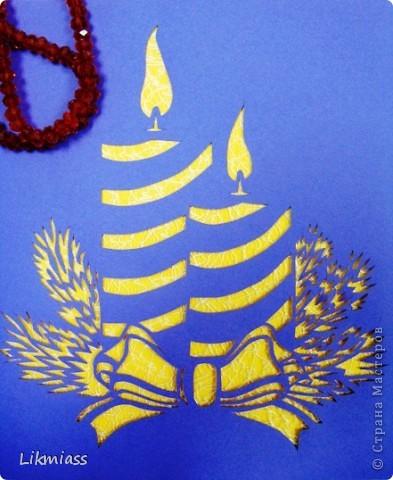 Декор предметов, Поделка, изделие Вырезание, Вырезание силуэтное: ПОКА НЕ ГАСНУТ СВЕЧИ Бумага Рождество. Фото 6