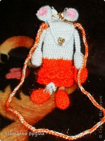 Вязание крючком, : сумочка для телефона Нитки, Пряжа .  Фото 2.