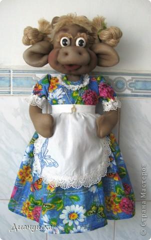 Куклы Шитьё: По урокам Ликмы. Кукла-домашка Капрон День рождения. Фото 2
