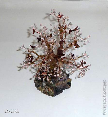 Поделка, изделие,  Бисероплетение, : Новые деревца - опять что-то из мира фентези Бисер, Пайетки . Фото 4