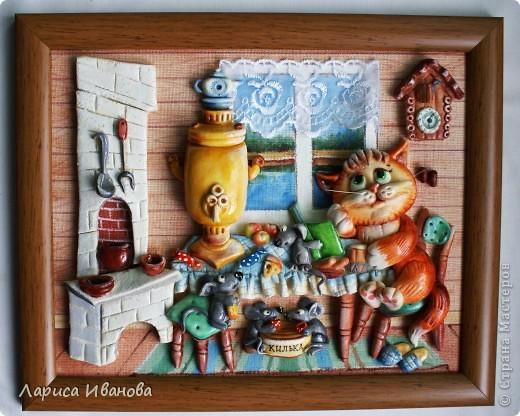 Картина, панно, Рамочки Лепка, Роспись: Еще картины и рамочки... Акварель, Гуашь, Тесто соленое День рождения. Фото 3