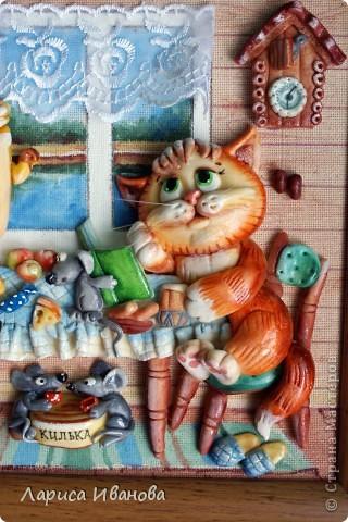 Картина, панно, Рамочки Лепка, Роспись: Еще картины и рамочки... Акварель, Гуашь, Тесто соленое День рождения. Фото 4