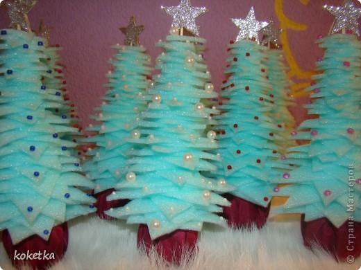 Пенопластовая елка своими руками