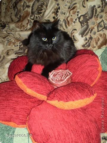 Интерьер Шитьё: Подушка-роза Ткань.  Фото 2.