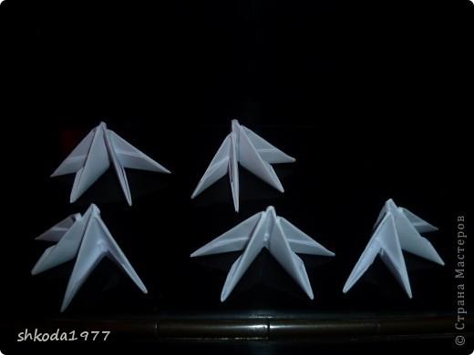 Мастер-класс Оригами модульное: Снежинки из модулей +мини МК Бумага Новый год. Фото 2