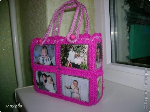 Мастер-класс,  Вязание, Коллаж, : сумочка из пластиковой бутылки . Фото 1