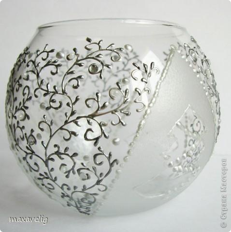 Роспись вазы контуром схемы