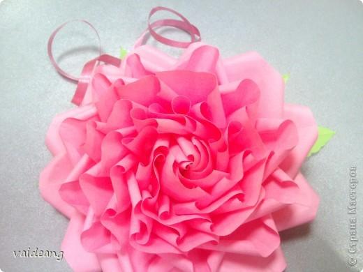 Мастер-класс,  Оригами, : Роза  Бумага 8 марта, . Фото 14