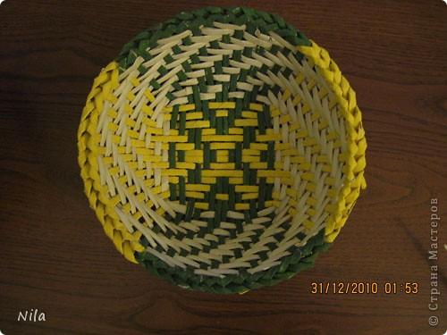 Мастер-класс Плетение: Цветная тарелочка Бумага газетная. Фото 1