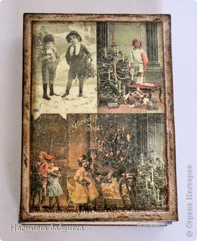 Декор предметов,  Декупаж, : Старый Новый год Бутылки, Клей, Краска, Салфетки, Свечи Новый год, . Фото 4
