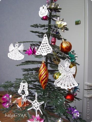 Интерьер Вязание крючком: Вяжем к Рождеству-со схемами Нитки Рождество. Фото 5