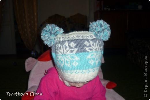 как связать детскую шапку с ушками.
