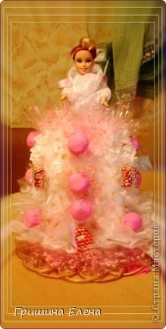 Мастер-класс, Свит-дизайн Моделирование: Кукла с конфетами...или конфеты с куклой? Бумага гофрированная, Кружево, Материал оберточный, Пенопласт, Продукты пищевые, Ткань День рождения. Фото 1
