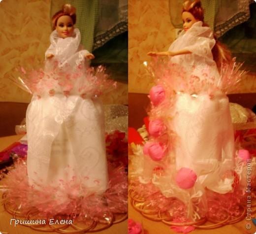 Мастер-класс, Свит-дизайн Моделирование: Кукла с конфетами...или конфеты с куклой? Бумага гофрированная, Кружево, Материал оберточный, Пенопласт, Продукты пищевые, Ткань День рождения. Фото 7