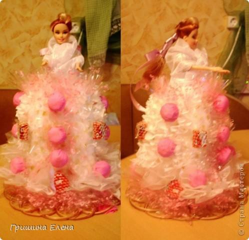 Мастер-класс, Свит-дизайн Моделирование: Кукла с конфетами...или конфеты с куклой? Бумага гофрированная, Кружево, Материал оберточный, Пенопласт, Продукты пищевые, Ткань День рождения. Фото 8