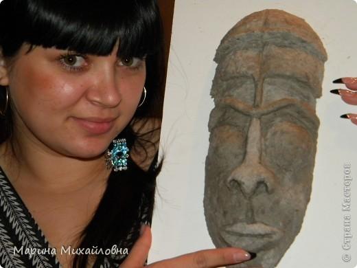 Мастер-класс,  Папье-маше, : Как я делаю африканские маски. Бумага . Фото 11