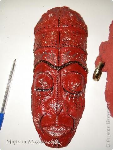 Мастер-класс,  Папье-маше, : Как я делаю африканские маски. Бумага . Фото 3