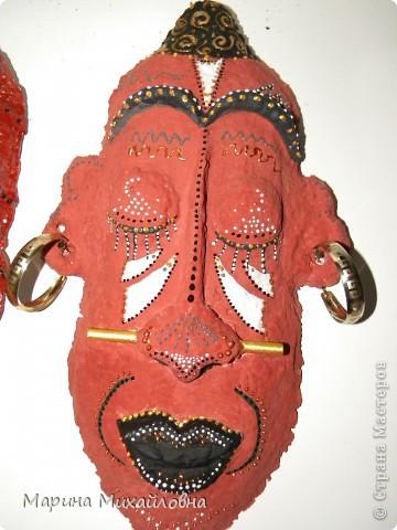 Мастер-класс,  Папье-маше, : Как я делаю африканские маски. Бумага . Фото 2