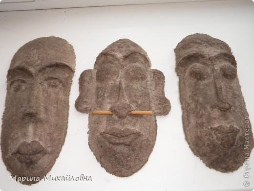 Мастер-класс,  Папье-маше, : Как я делаю африканские маски. Бумага . Фото 12