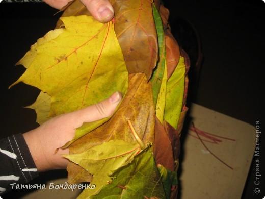 Как сделать из листьев гирлянду 121