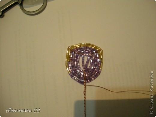 Мастер-класс Бисероплетение: МК по бисерной розе Бисер. Фото 9
