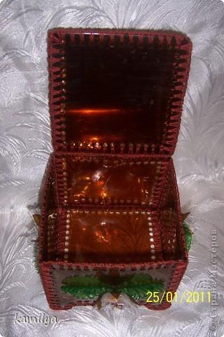 Мастер-класс,  Моделирование, : Еще одна шкатулка-сундучок Бутылки, Материал бросовый, Нитки Отдых, . Фото 3
