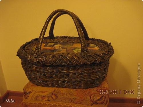 Мастер-класс Плетение: Корзинка для пикника Бумага газетная. Фото 1