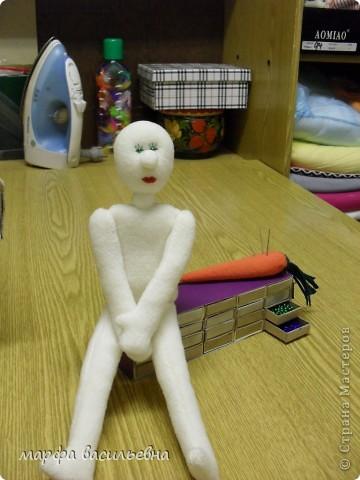 Мастер-класс,  Шитьё, : Давайте сошьем куклу. Ткань . Фото 12
