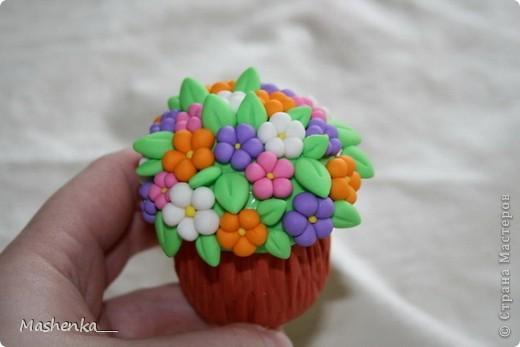 Поделка, изделие Лепка: Цветы на пеньке Фарфор холодный. Фото 1