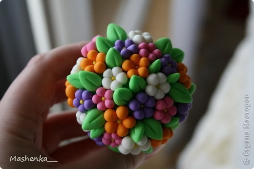 Поделка, изделие Лепка: Цветы на пеньке Фарфор холодный. Фото 2