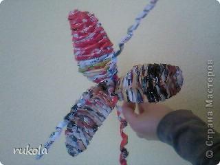 Вот наплелось вчера вечерком))) Цветочки в подарок!!! Подумываю над вазой,в эту приютила временно ;). Фото 2