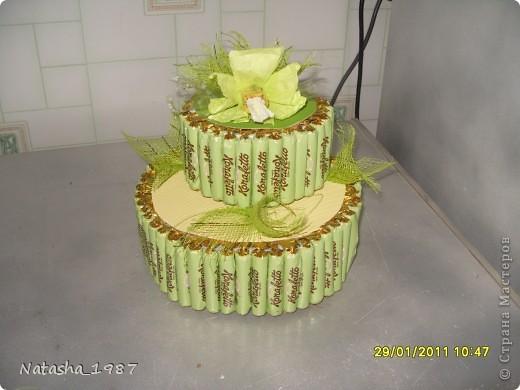 Торт из конфет своими руками фото