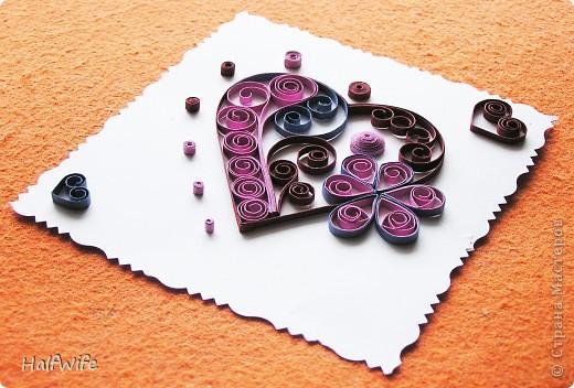 Мастер-класс, Открытка Квиллинг: МК Готовимся к дню Святого Валентина! Бумага Валентинов день. Фото 1