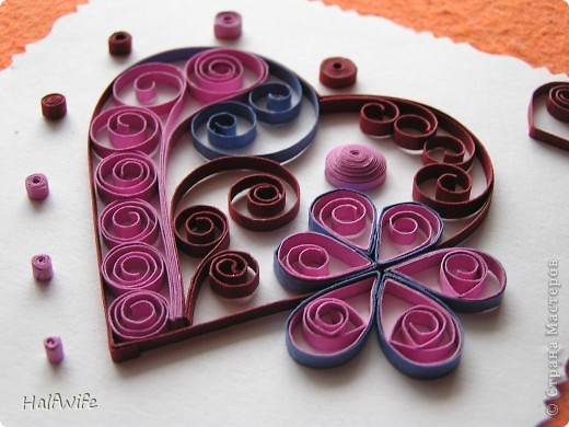 Мастер-класс, Открытка Квиллинг: МК Готовимся к дню Святого Валентина! Бумага Валентинов день. Фото 2