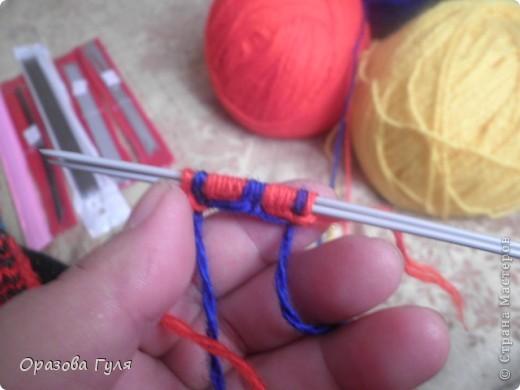 Мастер-класс Вязание: Яркие носки с орнаментом. Нитки. Фото 4