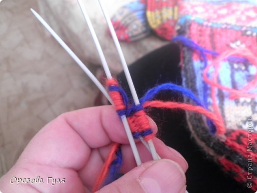 Мастер-класс Вязание: Яркие носки с орнаментом. Нитки. Фото 5