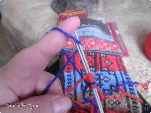 Мастер-класс Вязание: Яркие носки с орнаментом. Нитки. Фото 3