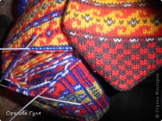 Мастер-класс Вязание: Яркие носки с орнаментом. Нитки. Фото 18